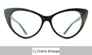 Kat Clear Lens Glasses - 177 Brown