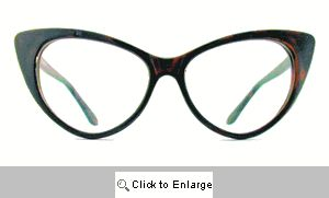 Kat Clear Lens Glasses - 177 Brown