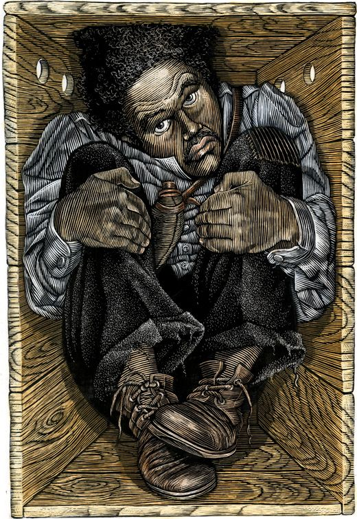 """Henry """"Box"""" Brown (c.1815–after 1889) was a 19th century Virginia slave, and later a noted abolitionist speaker, who escaped to freedom by arranging to have himself mailed to Philadelphia abolitionists in a wooden crate. [cite]  : A Celebration of African American History Month"""