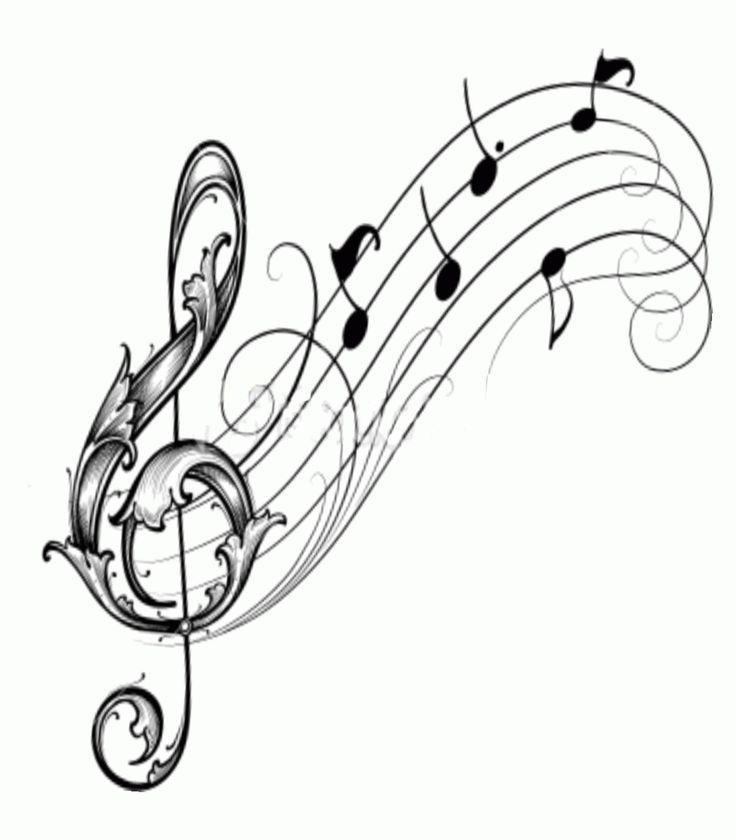 при картинки нот и скрипичный ключ картинки красную