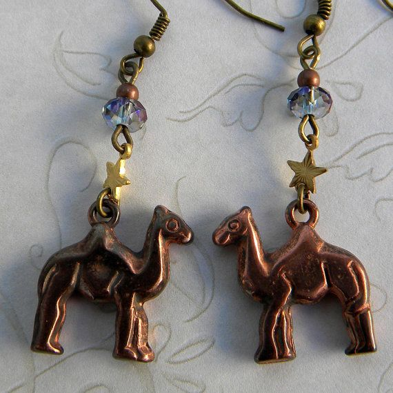 Camel Earrings  Star of Wonder Earrings  Camels and by Msemrick
