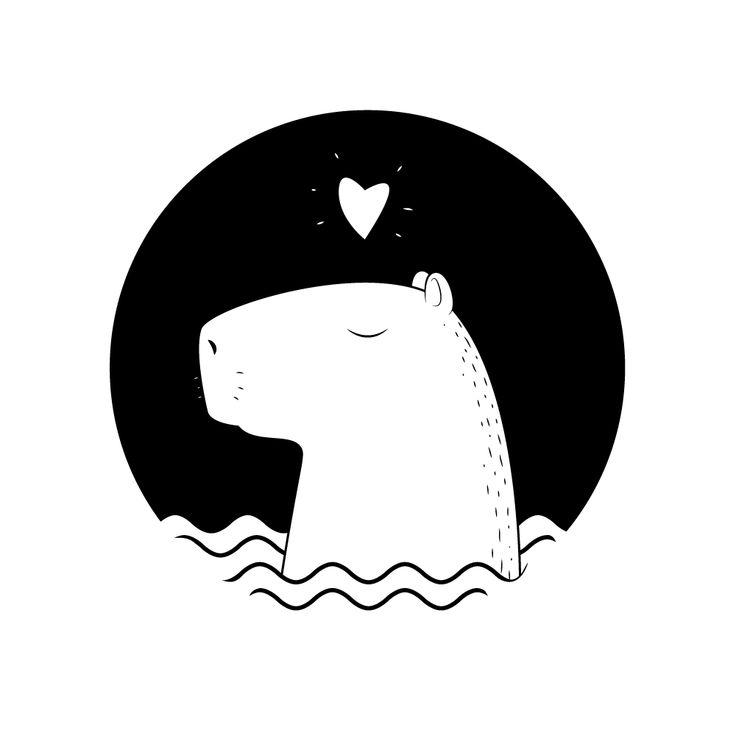 Просмотреть иллюстрацию капибара из сообщества русскоязычных художников автора shaurmaster в стилях: Другое, нарисованная техниками: Векторная графика.