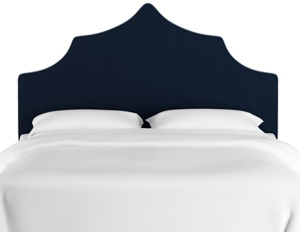Camille Bed Navy Velvet Cal King Velvet Bed Headboards For