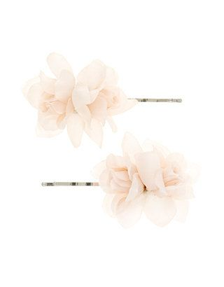 2 x Flower Bud Clips | Pink | Accessorize