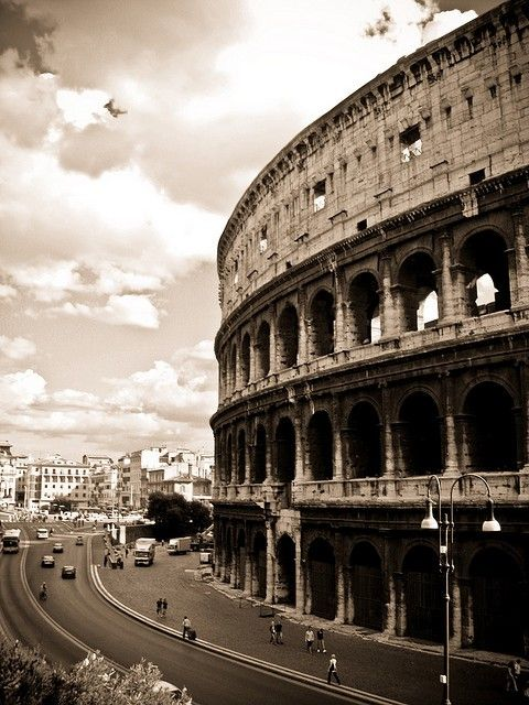 """TheColosseum - this famous building, originally named """"The Flavian Amphitheatre"""", is one of the modern seven wonders of the world in accordance with the list compiled by the New7Wonders Foundation"""