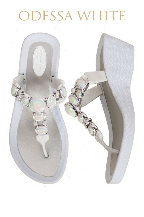 Odessa Ultimate Pool Shoe - White Base  Available from www.piarossini.com #PiaRossini #UltimatePoolShoe #Pool #Shoes #Sandal #Beach #Cruise #Comfort #Resort