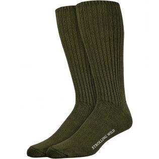 Army Green Wool Socks for Men