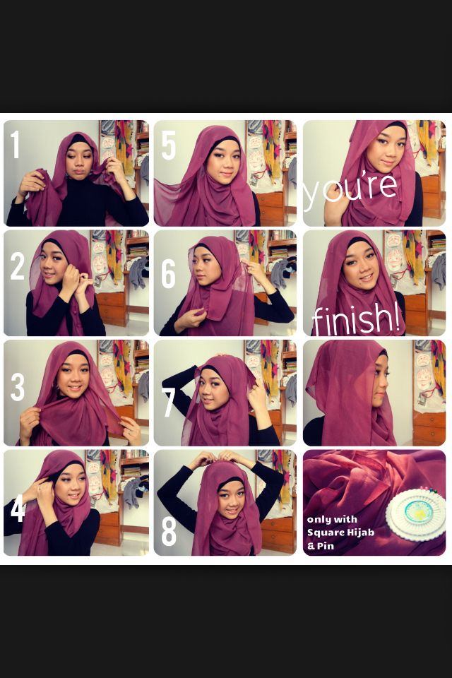 17 Best images about Hijab tutorials on Pinterest | Shawl ...