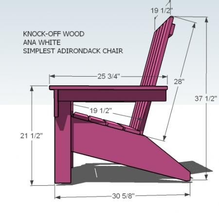 Free Wooden Garden Chair Plans