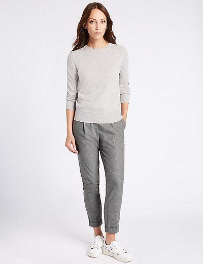 Tapered Leg Trousers | Marks & Spencer London