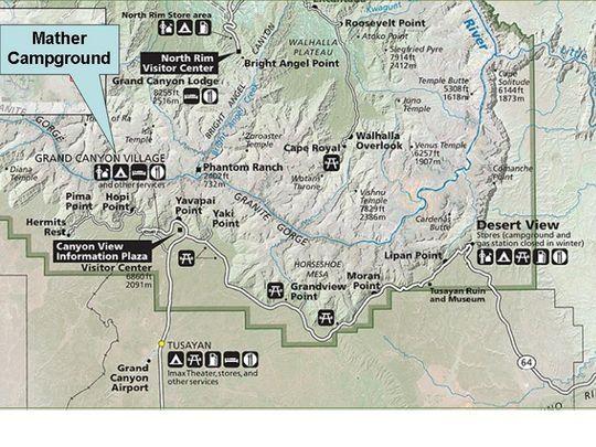 Grand Canyon National Park Mather Campground, Grand Canyon, AZ - GPS, Campsites, Rates, Photos, Reviews, Amenities, Activities, Policies, and Events - CampingRoadTrip.com