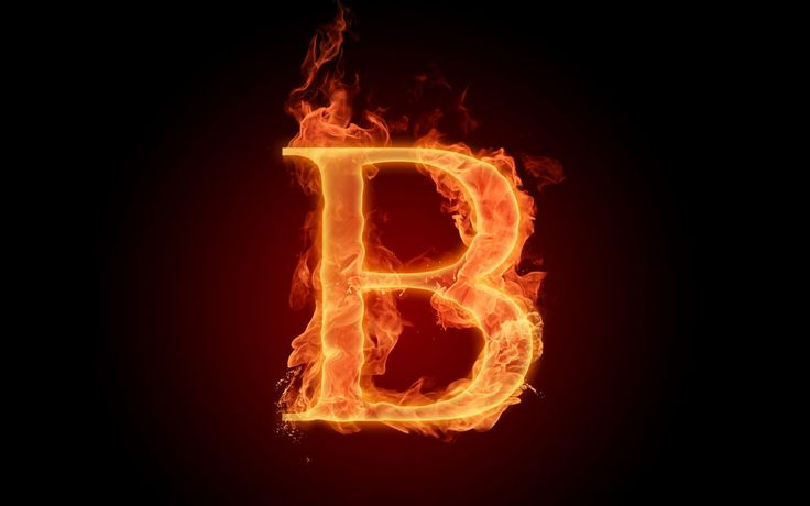 The fiery English alphabet picture B resolution 1680x1050