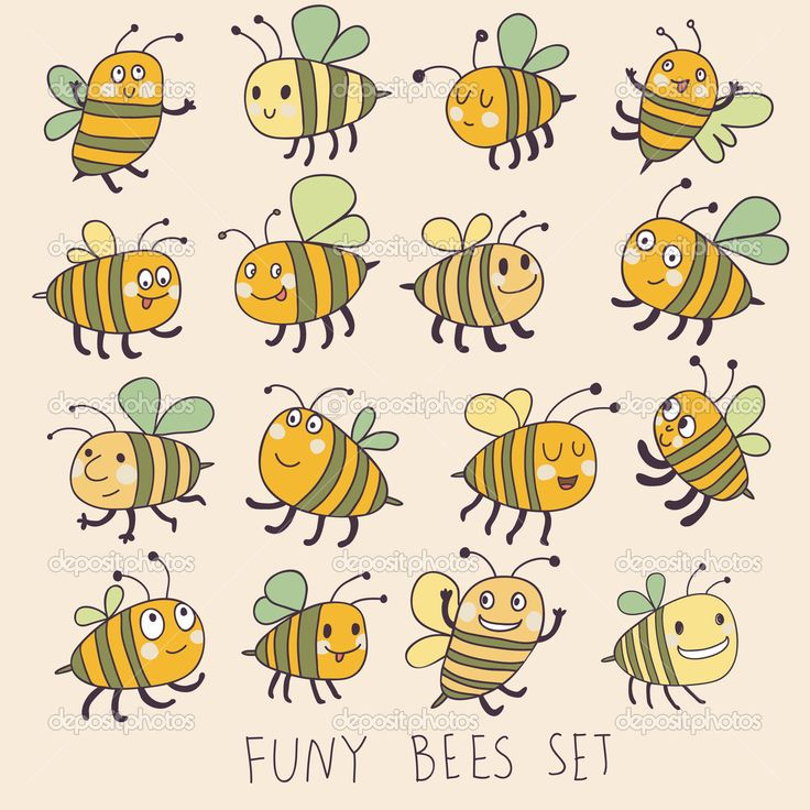 depositphotos_25067205-stock-illustration-funny-bees-set-in-vector.jpg (1024×1024)