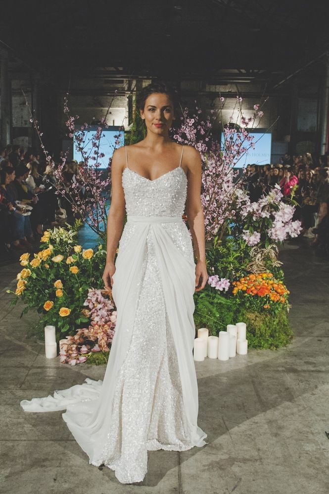 Karen Willis Holmes {The 'Anya' gown + Genevieve overlay} #weddingdresses #bridal #2014 runway
