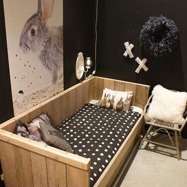 Kidsroom. White, black, grey. Scandinavian. Wood and a lot of naturals. Kidsroom decoration.