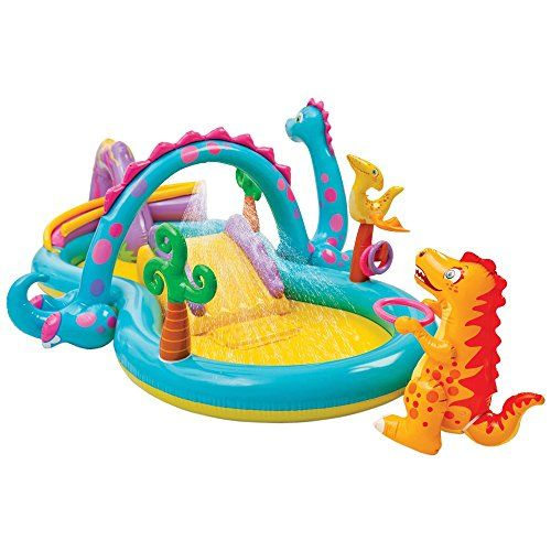 Intex+Dinosaur+Water+Play+Center,+Paddling+Pool+with+Moveable+Arch+Water+Spray.+Perfect+Large+Activity+Centre+for+Outdoor+Family+Summer+Fun!