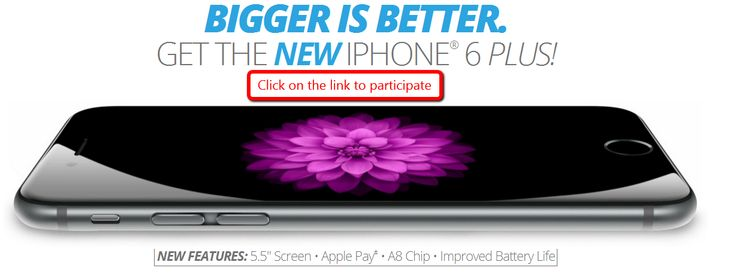 iPhone 6 Vs iPhone 6 Plus - US - Get an iPhone 6 --> participate now