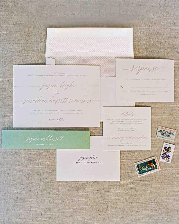 watch wedding invitation movie online eng sub%0A A Refined  Rustic Nashville Wedding   Martha Stewart Weddings  A neutral  invitation suite designed