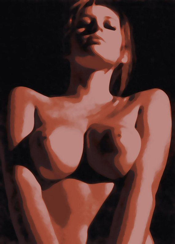 Keeley Hazell Nude Pop Art Paint By Number Kit