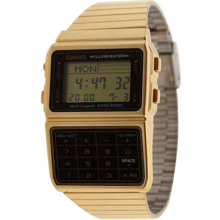 Casio Databank Multi Lingual Calculator Watch in gold