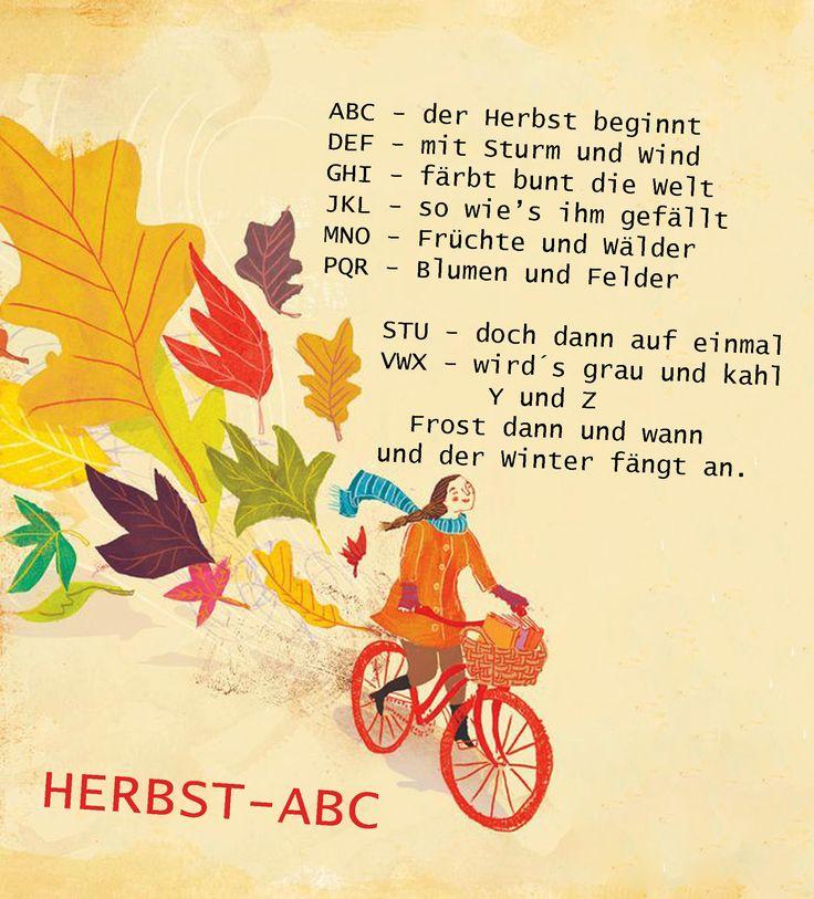 Herbst ABC Vorschule Kindergarten Erzieherin Herbst Reim Gedicht