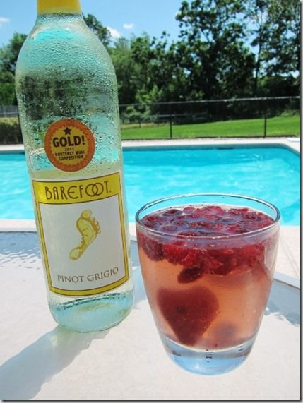 Simple summer sangria with pinot grigio, fresca, seltzer