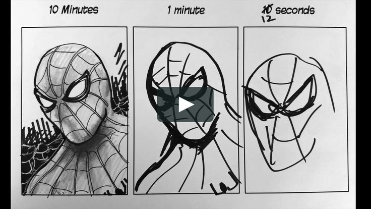 how to draw spiderman youtube