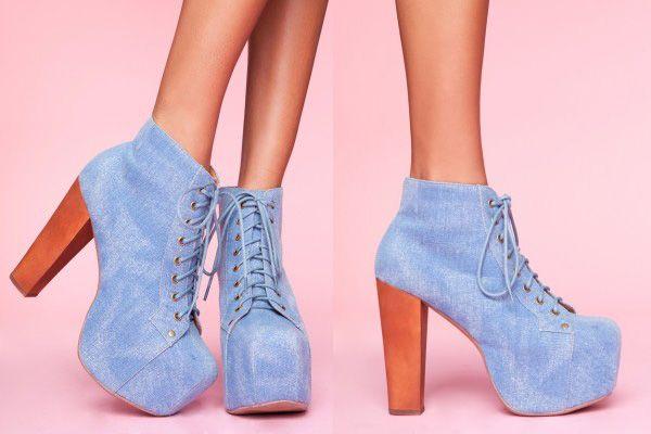 #JeffreyCampbell Denim Style shoes #showroom #palermostudio