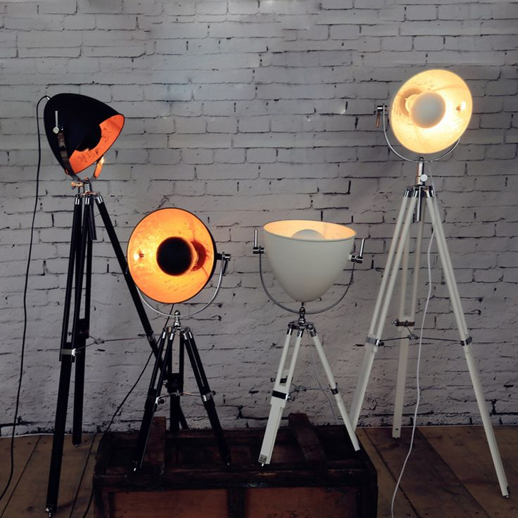 Cheap lamp thermostat, Buy Quality lamp light bulb socket directly from China lamp induction Suppliers: Vintage Tripod Floor Lamp Wood Holder Handcraft E27 Standard Lamps White/Black Floor Lamps for Living Room Studio Decoration