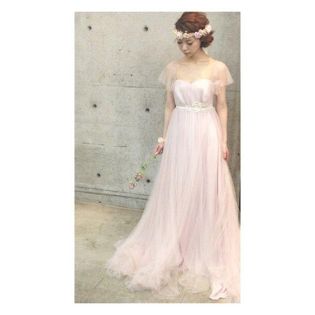 * * @maisonsuzu  さんの  ドレス  ステキです♡  #ヘアアレンジ #ウェディング #ファッション #浜松市