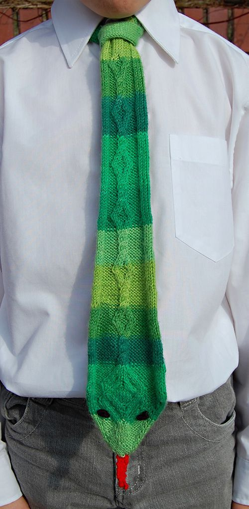 knitted snake tie.