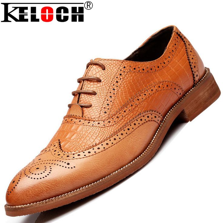 2015 New Men Formal Shoes Genuine Leather Oxfords Shoes For Men Flats Brogue Casual Leather Shoes Me Moccasin Sapato Masculino alishoppbrasil