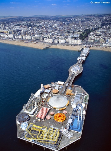 Brighton Pier, Brighton, East Sussex (Picture: Jason Hawkes, Britain From Above, DK)