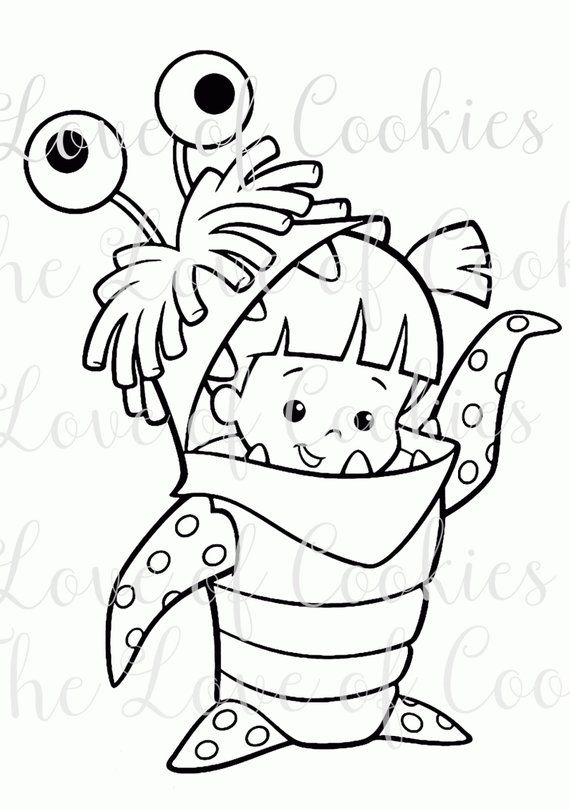 Pyo Halloween Costume Girl Cookie Silk Screen Stencil Silk Screen Custom Silk Screen Mo Monster Coloring Pages Disney Coloring Pages Cartoon Coloring Pages