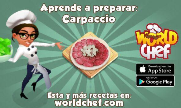 ¡He aprendido a cocinar Carpaccio! ¡Descárgate gratis World Chef para cocinar tú también!:  https://itunes.apple.com/app/id1010677881  #WorldChef