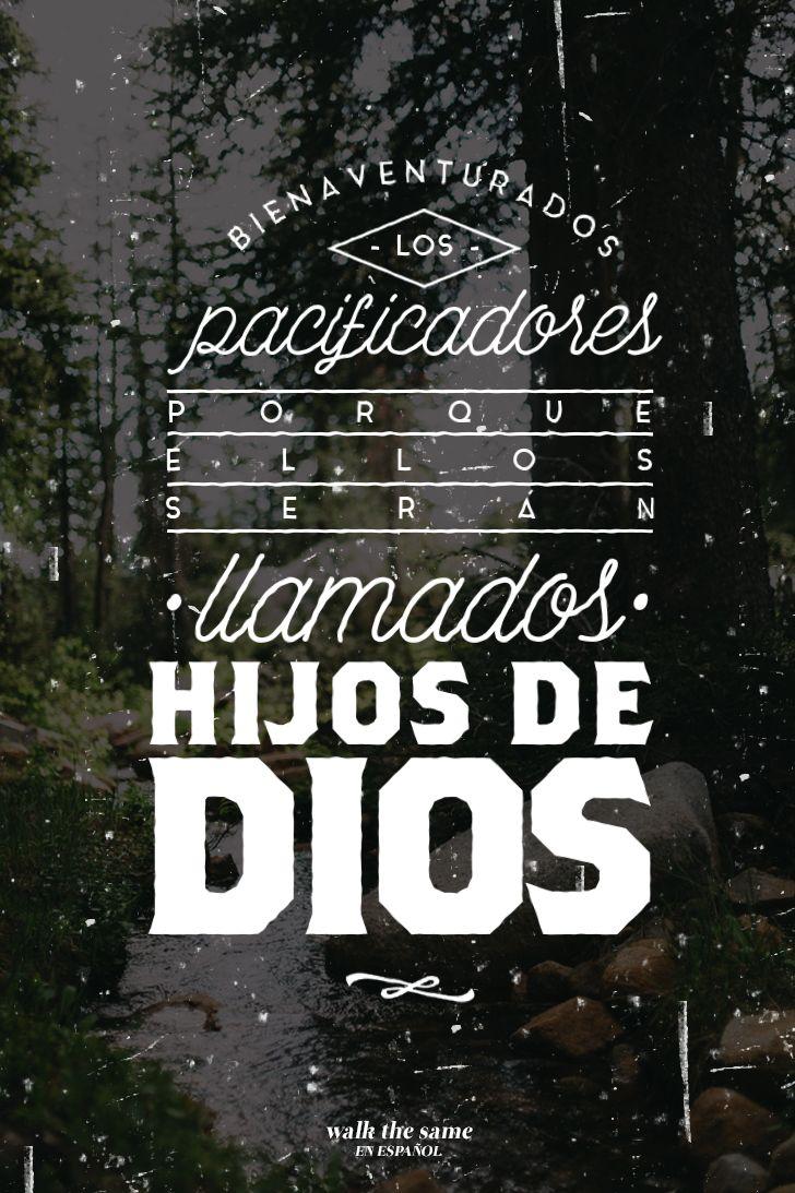 """Mateo 5:9 DHH """"Dichosos los que trabajan por la paz, porque Dios los llamará hijos suyos."""" ________________________________________ Serie de imágenes: Las bienaventuranzas (#wtseimágenes..."""