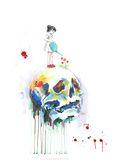 Schedel Posters van Lora Zombie