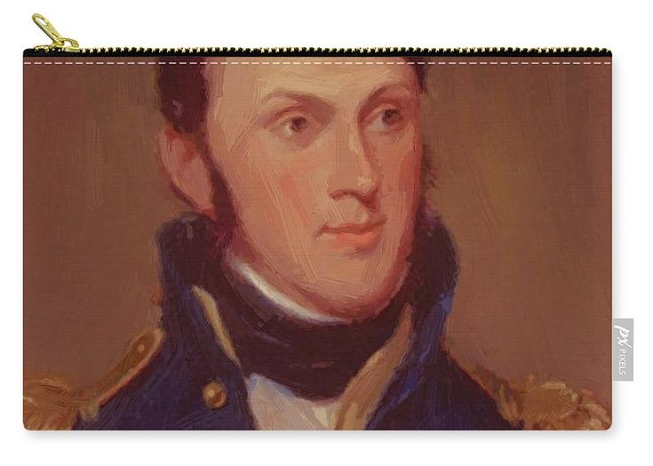 Stephen Carry-all Pouch featuring the painting Stephen Harriman Long 1819 by Peale Charles Willson