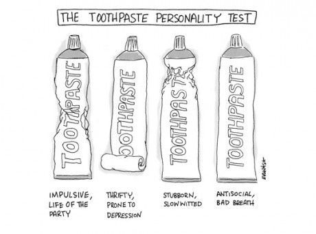 Den Tandpasta personlighedstest