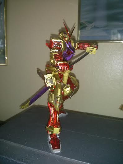 Juan Reyes. My Astray Red Frame Gold Armor on my favorite anime character Saitoh Hajime from Rurouni Kenshin doing his Gatotsu Stance