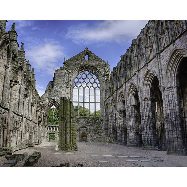 <li>Artist: Stewart Parr</li><li>Title: Hollyrood's Abby ruins in Edinburgh Scotland</li><li>Product type: Unframed Print</li>