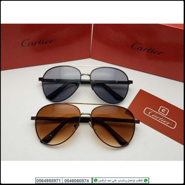 نظارات كارتير رجاليه Cartier درجه اولى مع جميع ملحقاتها و بنفس اسم الماركه Sunglasses Oval Sunglass Glasses