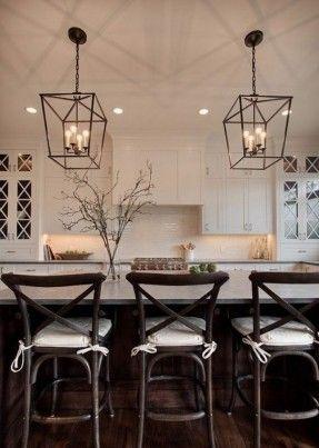 white kitchen pendant lighting over island - Kitchen Pendant Lighting Ideas