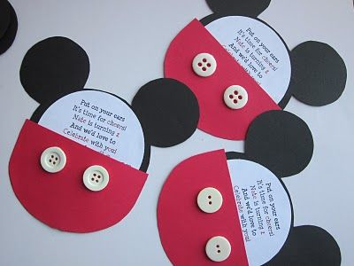 DIY Mickey Mouse Invitations:  Plectron, Mickey Mouse Birthday,  Plectrum, Birthday Parties, Birthday Invitations, Pick, Parties Ideas, Mickey Mouse Invitations, Mickey Birthday