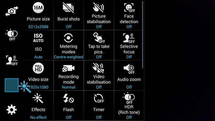 Samsung Galaxy S5 camera shortcuts