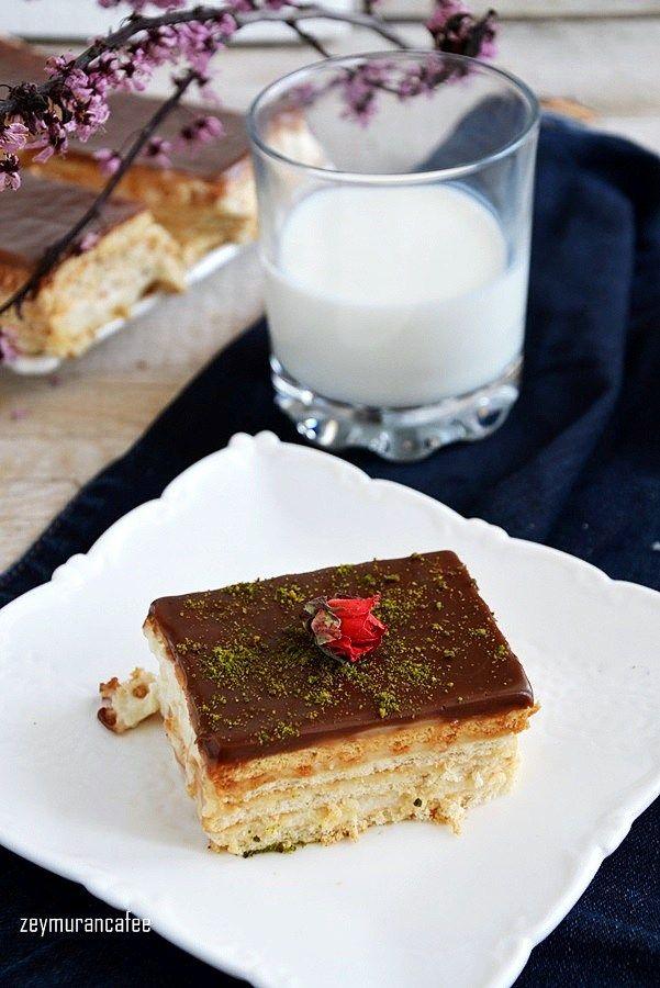 muhallebili bisküvi pastası