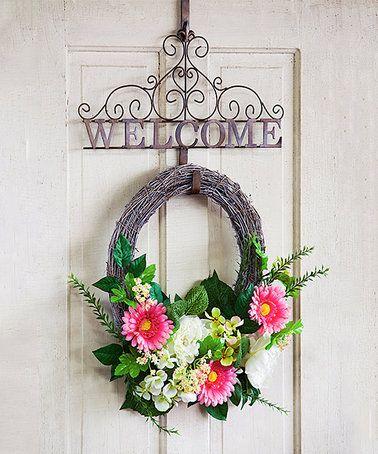 'Welcome' Wreath Holder