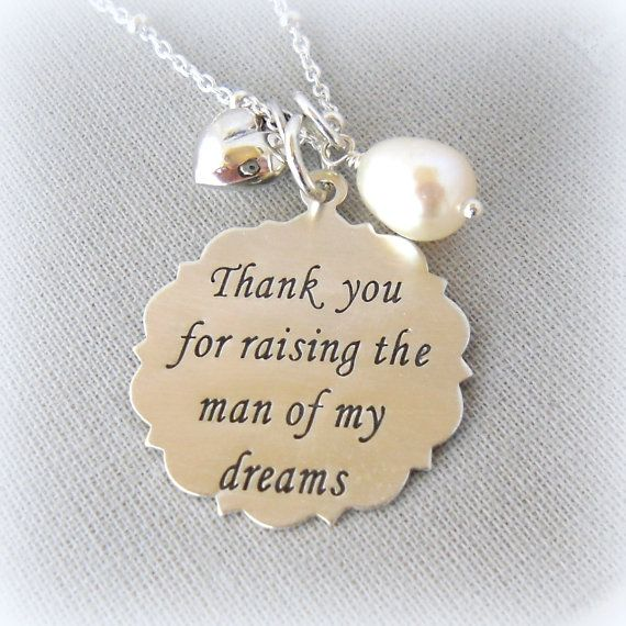 Wedding Gift Ideas For Mother In Law : Necklace for Mother in Law, Personalized Wedding Gift for MIL, Gold F ...
