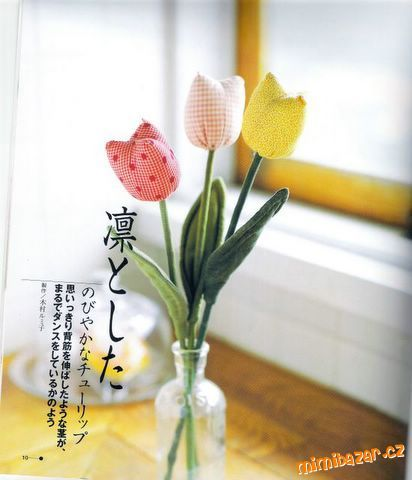 šitý tulipán