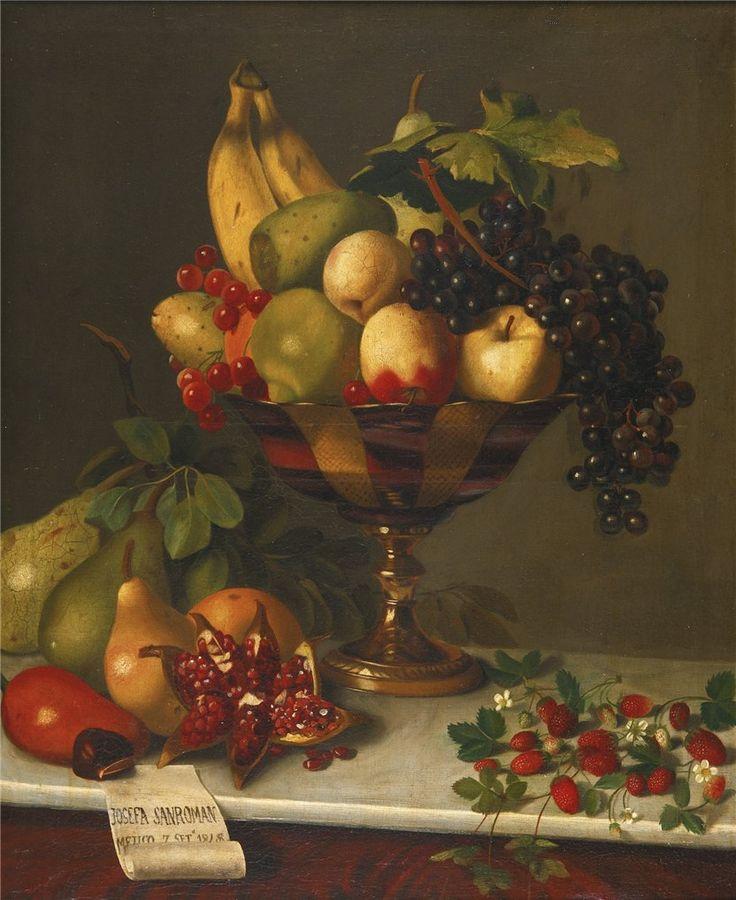 Josefa Pérez de San Román Ochoa de Alda (1842 - 1873) — A Bowl of Fruit   (832×1018)